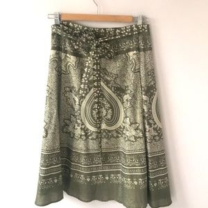 NWOT BCBG wrap around midi skirt